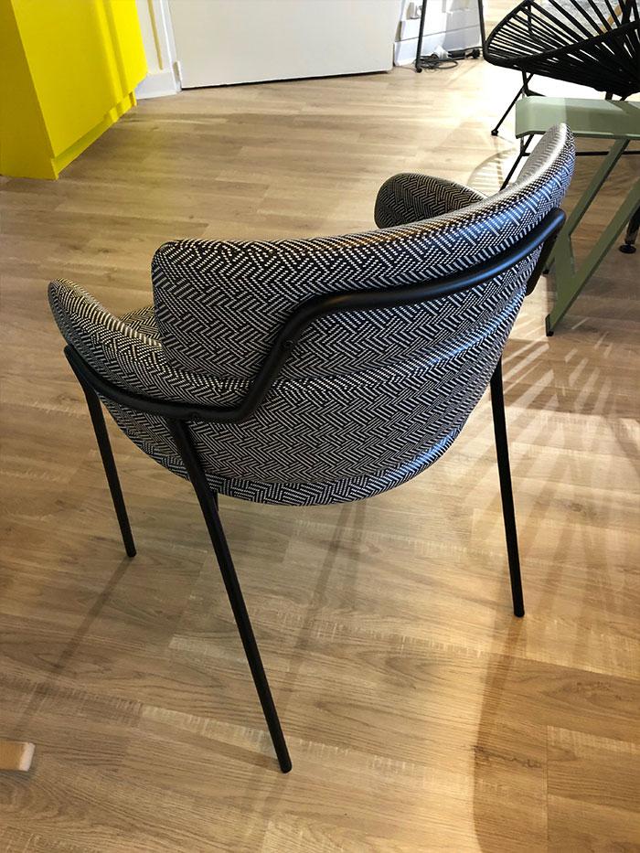 simili cuir fauteuil motifs noir et blanc